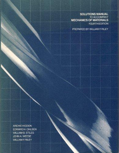 9780471813385: Mechanics of Materials: Solutions Manual