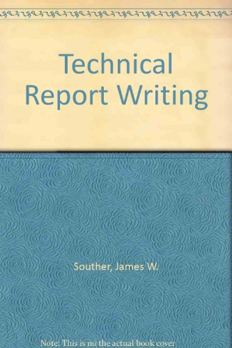 9780471814122: Technical Report Writing