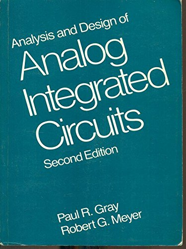 9780471814542: Analysis and Design of Analogue Integrated Circuits: 2nd Ed