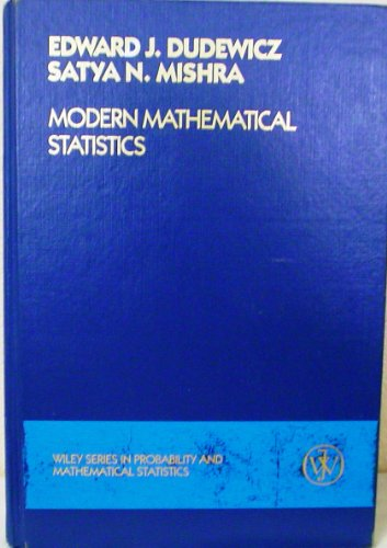 9780471814726: Modern Mathematical Statistics (Wiley Series in Probability and Statistics)