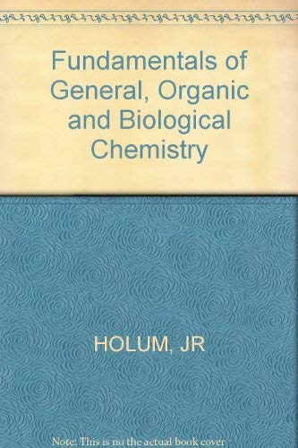 9780471815174: Fundamentals of general, organic, and biological chemistry
