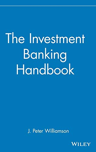 9780471815624: The Investment Banking Handbook (Frontiers in Finance Series)