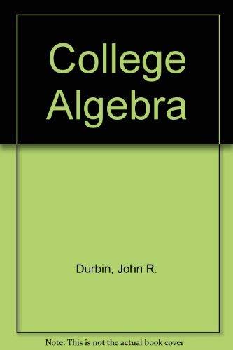 9780471817147: College Algebra