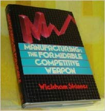 9780471817390: Manufacturing: The Formidable Competitive Weapon