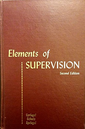 9780471817741: Elements of Supervision