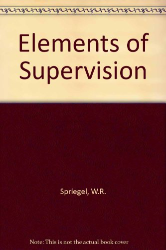 9780471817802: Elements of supervision
