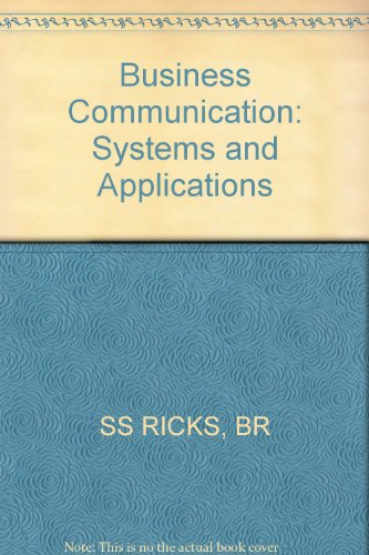 9780471818243: Business Communication: Systems and Applications