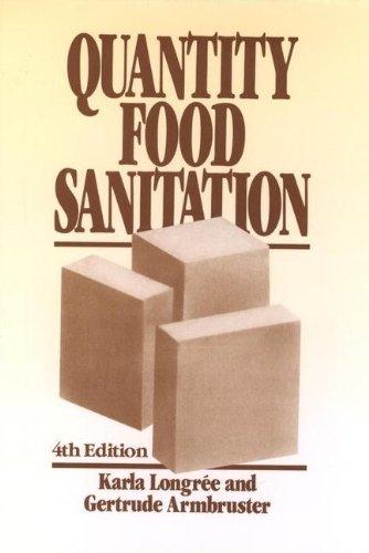 Quantity Food Sanitation: Karla Longree; Gertrude