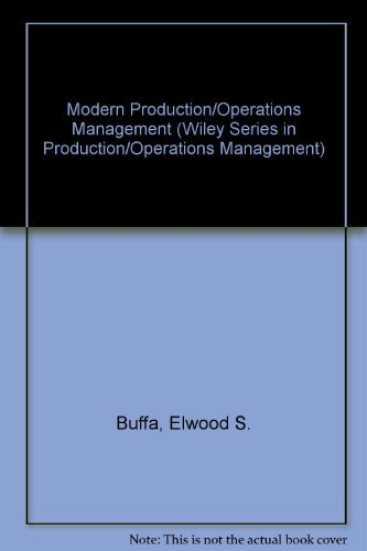 9780471819059: Modern Production/Operations Management, 8th Edition