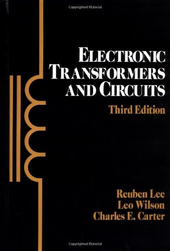 9780471819769: Electronic Transformers and Circuits