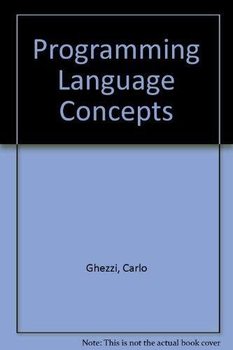 9780471821731: Programming Language Concepts