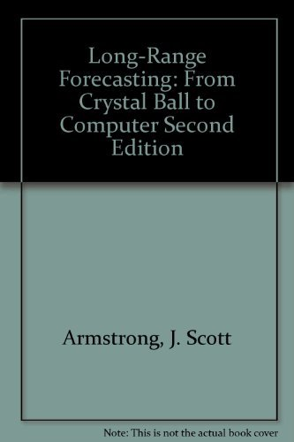 9780471822608: Long-Range Forecasting: From Crystal Ball to Computer