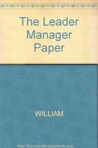 The Leader Manager (9780471822790) by [???]