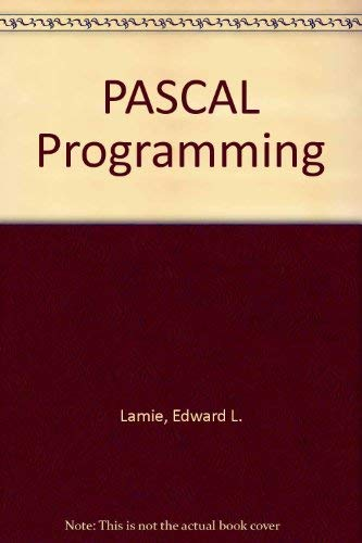 9780471823087: PASCAL Programming