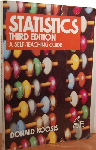 9780471827207: Statistics (Wiley Self-Teaching Guides)