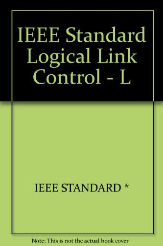 Logical Link Control: IEEE Standards for Local: American National Standards