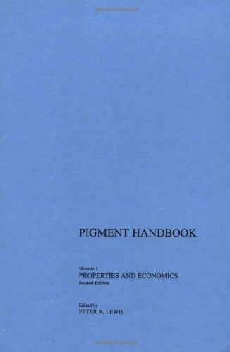 9780471828334: Pigment Handbook, Volume 1: Properties and Economics