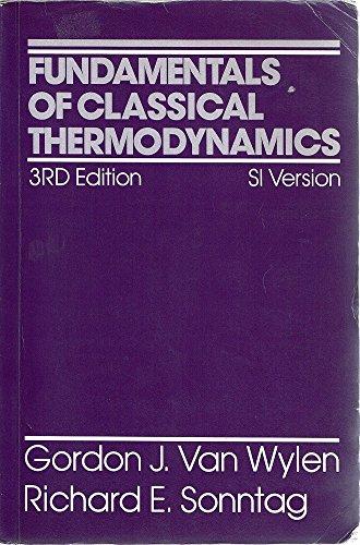 9780471829331: Fundamentals of Classical Thermodynamics