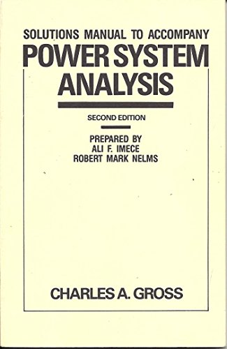 9780471829775: Power System Analysis: Solutions Manual to 2r.e