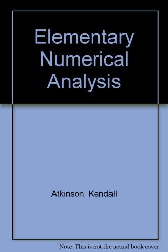 elementary numerical analysis by atkinson abebooks rh abebooks co uk  Numerical Results