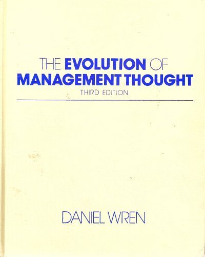 9780471830894: The Evolution of Management Thought