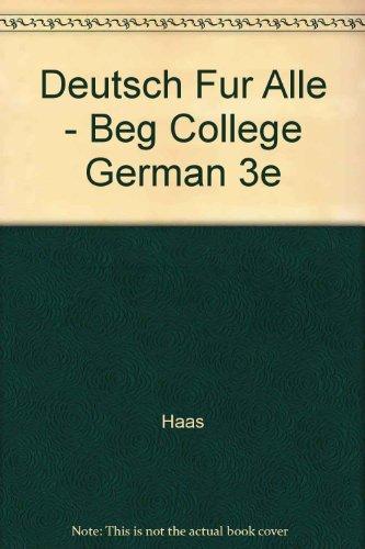 9780471831150: Deutsch Fur Alle: Beginning College German - A Comprehensive Approach