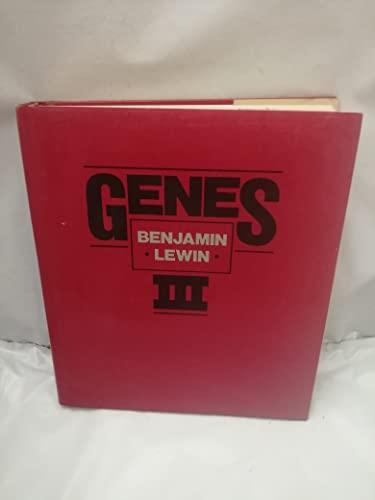 Genes (Third Edition): Lewin, Benjamin (editor)
