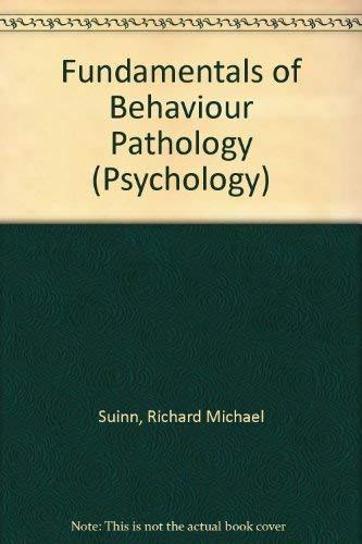 9780471835448 Fundamentals Of Behaviour Pathology Psychology S