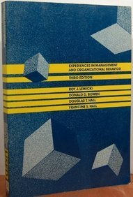 9780471837961: Experiences In Management and Organizational Behavior, 3rd Edition