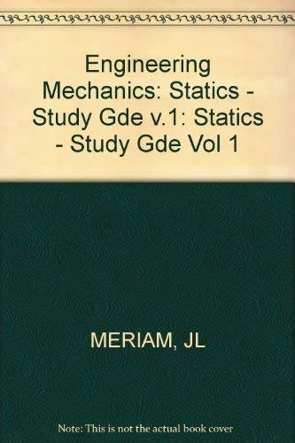 9780471842569: Engineering Mechanics, Statics, Study Guide (Volume 1)
