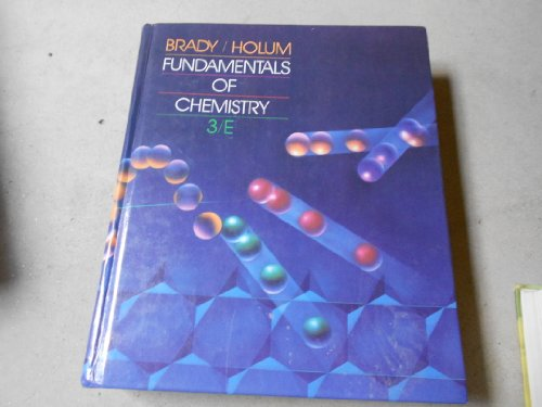9780471844730: Fundamentals of Chemistry