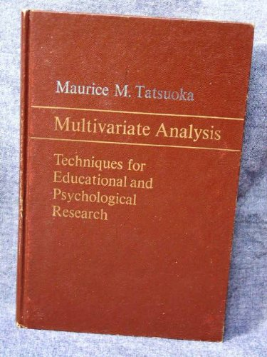 9780471845904: Multivariate Analysis Techniques for Educational and Psychological Research