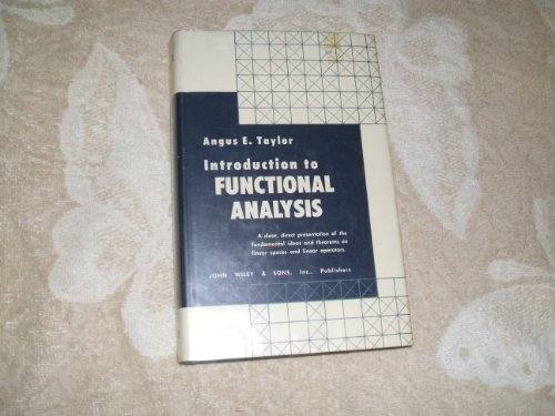9780471846451: Introduction to Functional Analysis