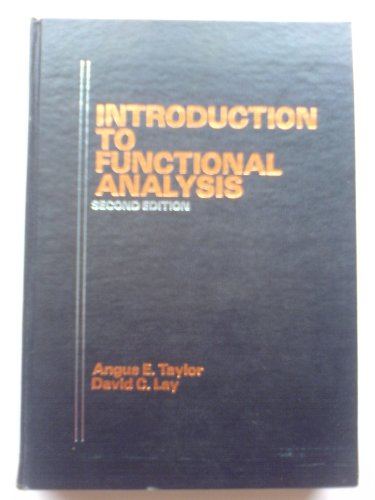 9780471846468: Introduction to Functional Analysis