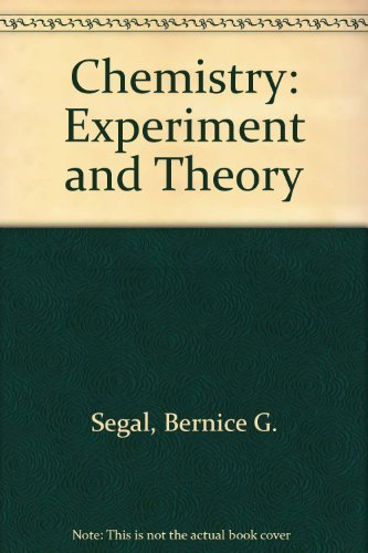 9780471849292: Chemistry: Experiment and Theory