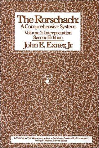 9780471850809: The Rorschach: A Comprehensive System, Vol. 2: Interpretation, 2nd Edition