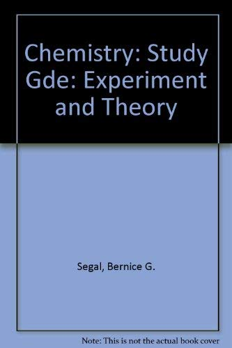 9780471851165: Chemistry: Experiment and Theory, 2nd Edition