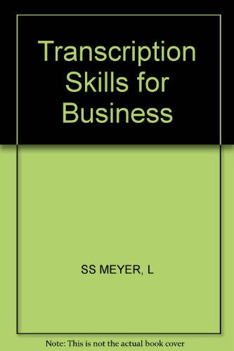 9780471854524: Transcription Skills for Business (Wiley word processing series)
