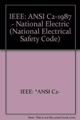 9780471855132: National Electrical Safety Code: 1987 American National Standard