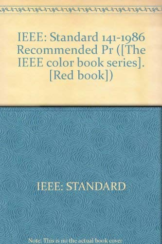 ieee red book ieee recommended practice for electric power distribution for industrial plants - Ieee Color Books