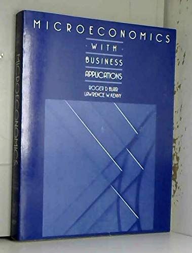 9780471859208: Microeconomics with Business Applications