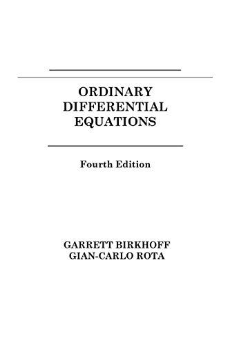 9780471860037: Ordinary Differential Equations 4e