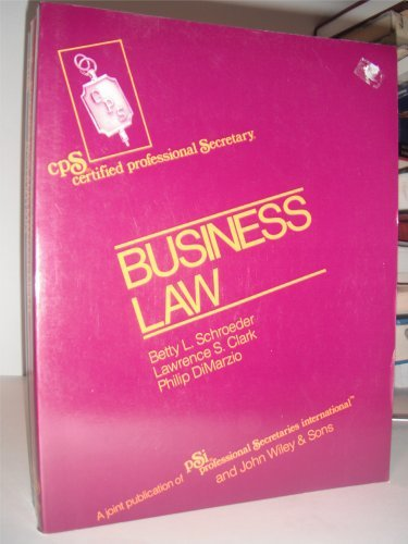 9780471861546: Schroeder Cps Examination Review Series-Module II Business Law: Module 2