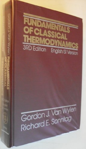 9780471861737: Fundamentals of Classical Thermodynamics