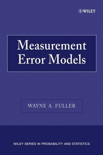 9780471861874: Measurement Error Models