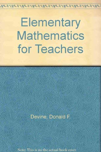 9780471862543: Elementary mathematics for teachers