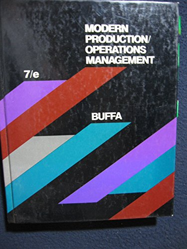 9780471863847: Modern Production/Operations Management