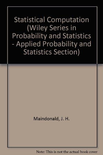 9780471864523: Statistical Computation (Wiley Series in Probability and Statistics - Applied Probability and Statistics Section)