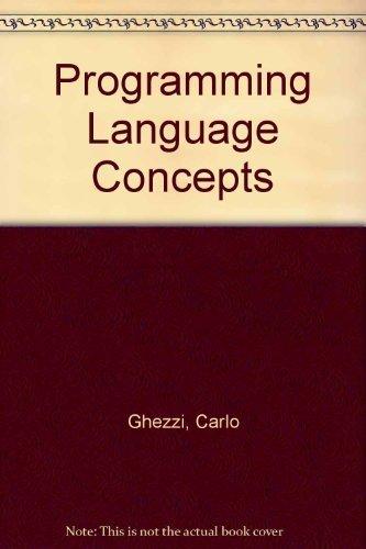9780471864820: Programming Language Concepts