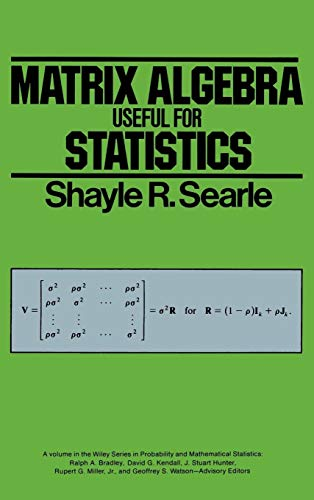 9780471866817: Matrix Algebra Useful for Statistics